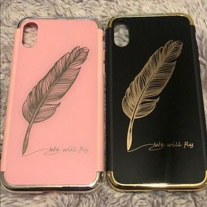 Accessories - Iphone x his/her feather cases